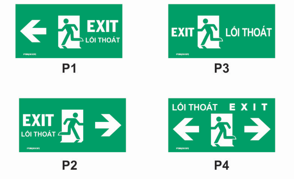 Các mẫu đèn thoát hiểm exit Paragon