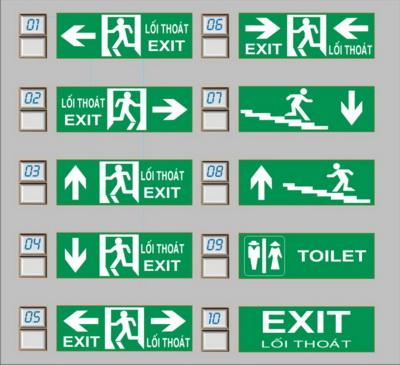 Các mẫu đèn exit, đèn thoát hiểm